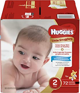 Huggies Little Snugglers Baby Diapers, Size 2, 72 Count, BIG PACK (Packaging May Vary)