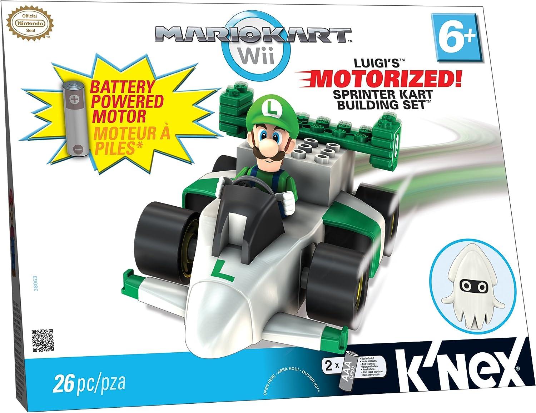 K'nex - 38063 - Mario Kart Wii - Luigi und Sprinter Kart Building Set - mit Motor - 26 Teile