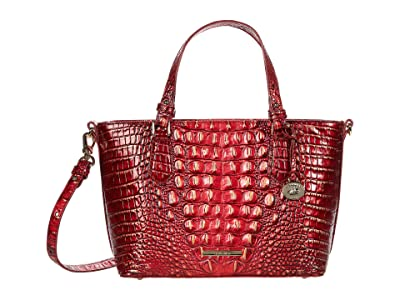Brahmin Melbourne Mini Misha Satchel (Crimson) Handbags