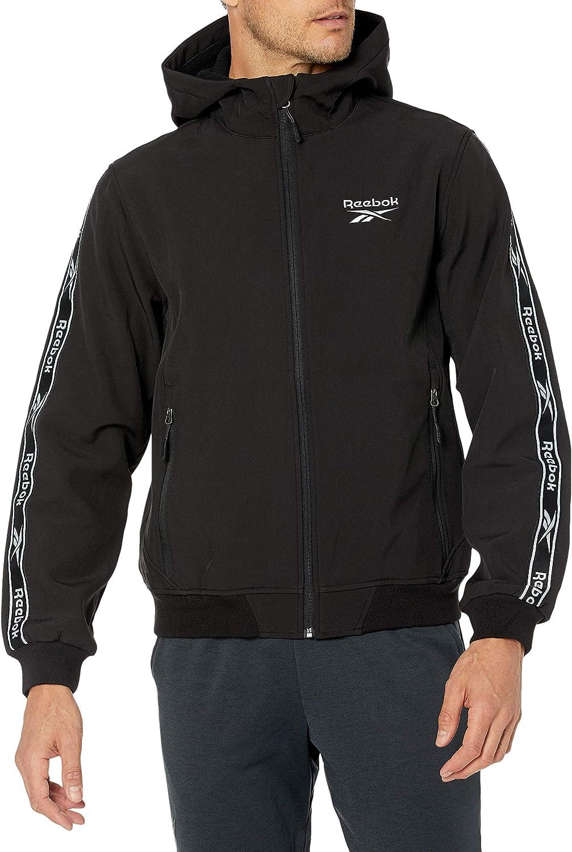 Reebok Men's Soft Woven Jacket W. Knit Rib