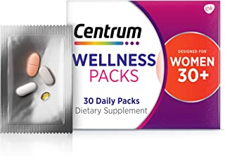 Centrum Wellness Packs Daily Vitamins for Women in Their 30s, Women's Vitamins with Complete...