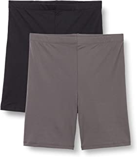 Amazon Brand - Iris & Lilly Women's Cycling Shorts, Pack of 2