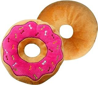 1 cojin Donut (Rosa) Almohada 3D Donut Asiento Suave y Acogedor Amortiguador de Peluche Donut de 40cm