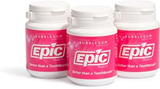 Sponsored Ad - Epic 100% Xylitol-Sweetened Chewing Gum (Bubblegum, 50-Count Bottles (Pack of 3))