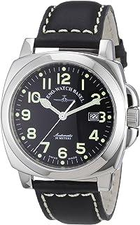 Zeno Watch Basel - 3554-a1 - Reloj analógico automático para Hombre con Correa de Piel, Color Negro