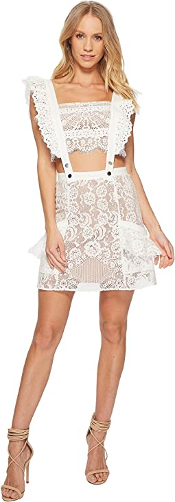 For Love and Lemons Tati Pinafore Lace Dress