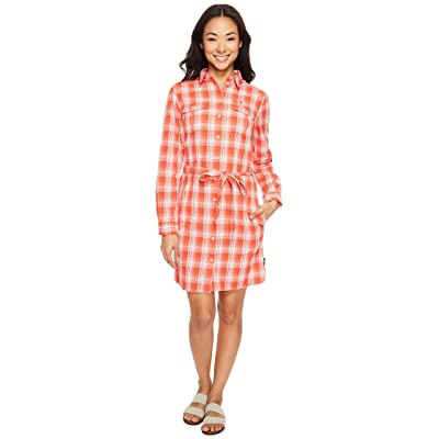 Jack Wolfskin Rock Chill Dress (Fiery Red Checks) Women