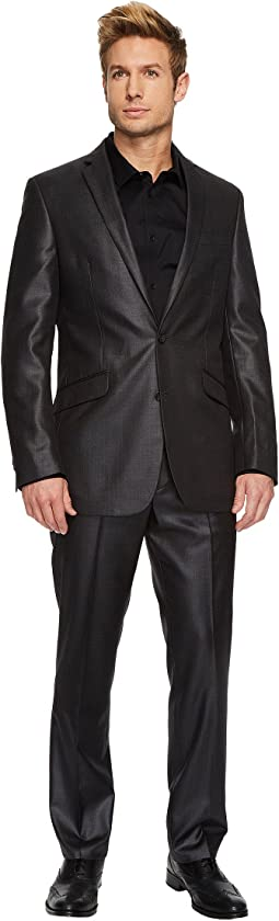 Slim Fit Dark Grey Sheen Suit