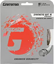 Gamma Synthetic Gut Series W/Weatherguard Tennis Racket String - Playability & Extra Durability For All Playing Levels & S...