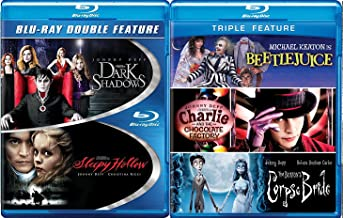 Tim Burton Johnny Depp Collection Blu Ray + Beetlejuice / Charlie and the Chocolate Factory / Corpse Bride + Sleepy Hollow & Dark Shadows Fantasy Action set 5 film favorites
