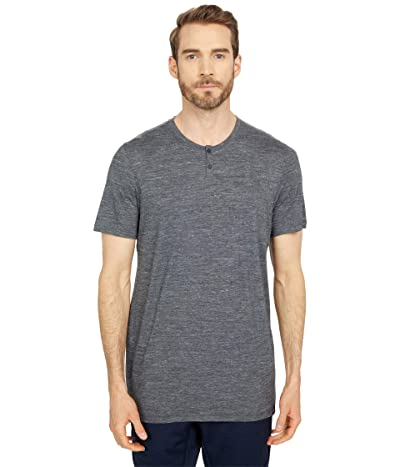 Smartwool Everyday Exploration Short Sleeve Henley (Medium Gray Heather) Men