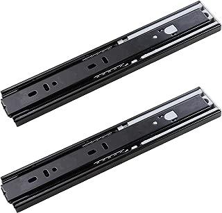 SDPAWA Push to Open Drawer Slides 10 Inch Ball Bearing 3-Folds Side Mount Drawer Sliding Rails 1 Pair