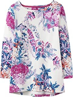 Joules Womens Harbourhemblk Printed Jersey Top