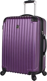 Lucas Outlander Hard Case 24 inch Expandable Rolling Suitcase With Spinner Wheels (One Size, Purple)