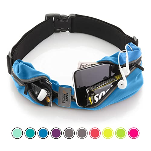 Sport2People Running Belt USA Patented - Hands-Free Workout Fanny Pack - iPhone X 6