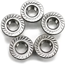 FullerKreg 10 Pcs M10 x 1.5 A2 Stainless Steel DIN 6923 Serrated Hex Flange Nut, 18-8 Stainless Steel 304, Bright Finish