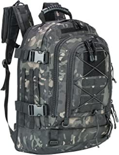 WolfWarriorX Men Backpacks Large Capacity Military Tactical Hiking Expandable 39L-60L Backpack