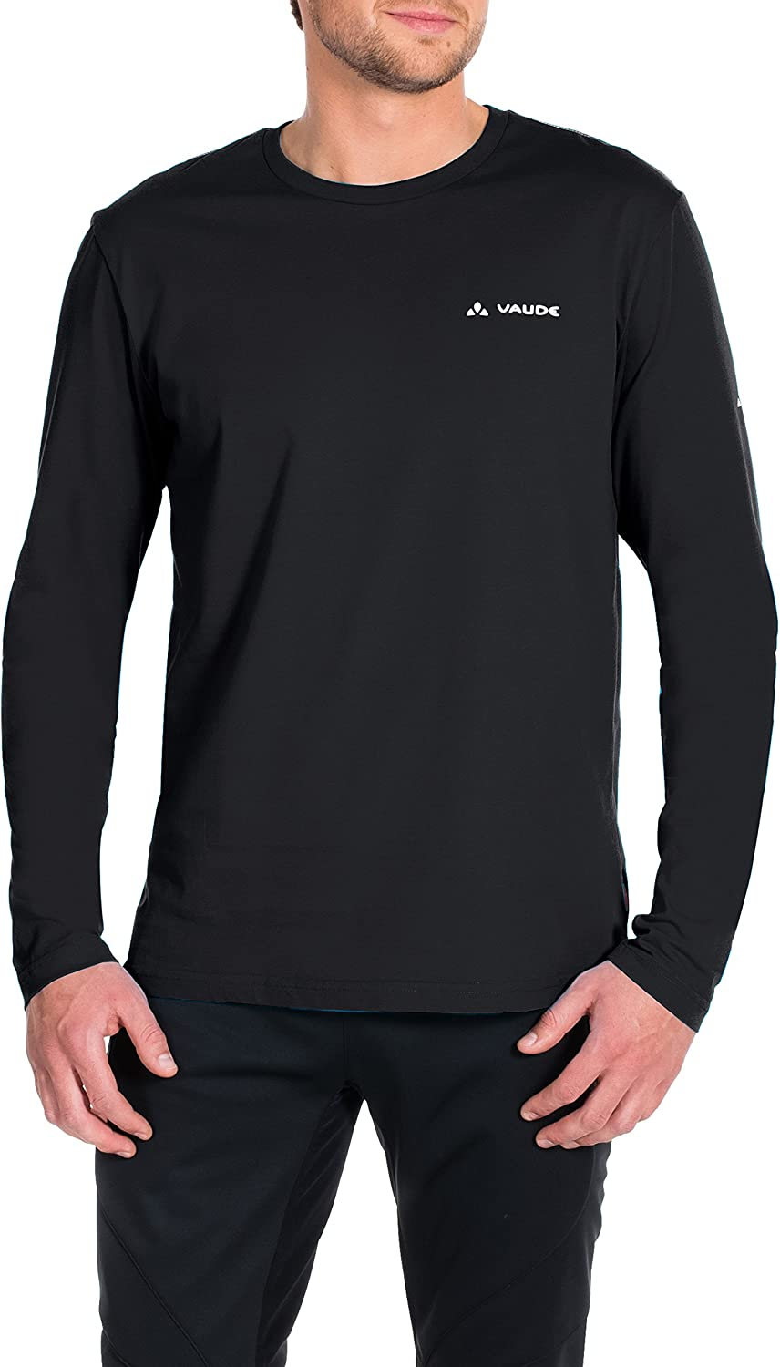 (X-Large, Black - black) - VAUDE Brand Men's Long-Sleeved Shirt
