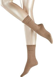 ESPRIT Socken Basic Easy 2-Pack Baumwolle Damen weiß schwarz viele weitere Farben verstärkte Damensocken ohne Muster atmungsaktiv dünn und einfarbig im Multipack 2 Paar