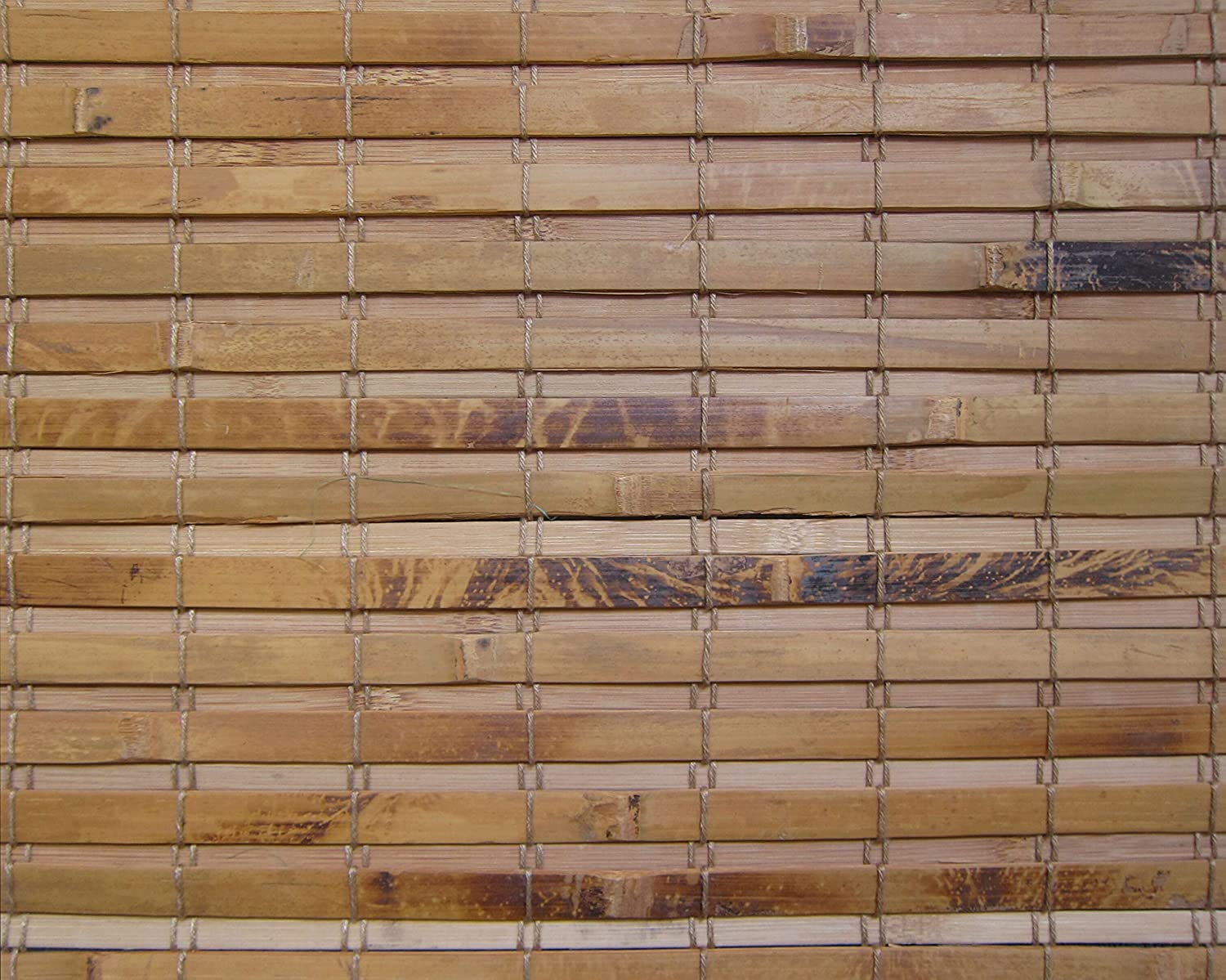 Cordless Woven Wood Roman Shades, 29W x 36H, Hatteras Camel, Sizes 20-72 Wide and 24-72 High