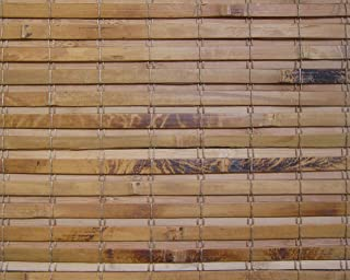 Cordless Woven Wood Roman Shades, 45W x 60H, Hatteras Camel, Sizes 20-72 Wide and 24-72 High