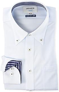 [オリヒカ] 選べるスーパーノンアイロン ワイシャツ 【速乾/消臭/ストレッチ/長袖/ビジネス】 メンズ