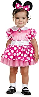 Disguise Baby's Disney's Mickey Mouse Minnie Mouse Costume, Pink/White, 12-18 Months