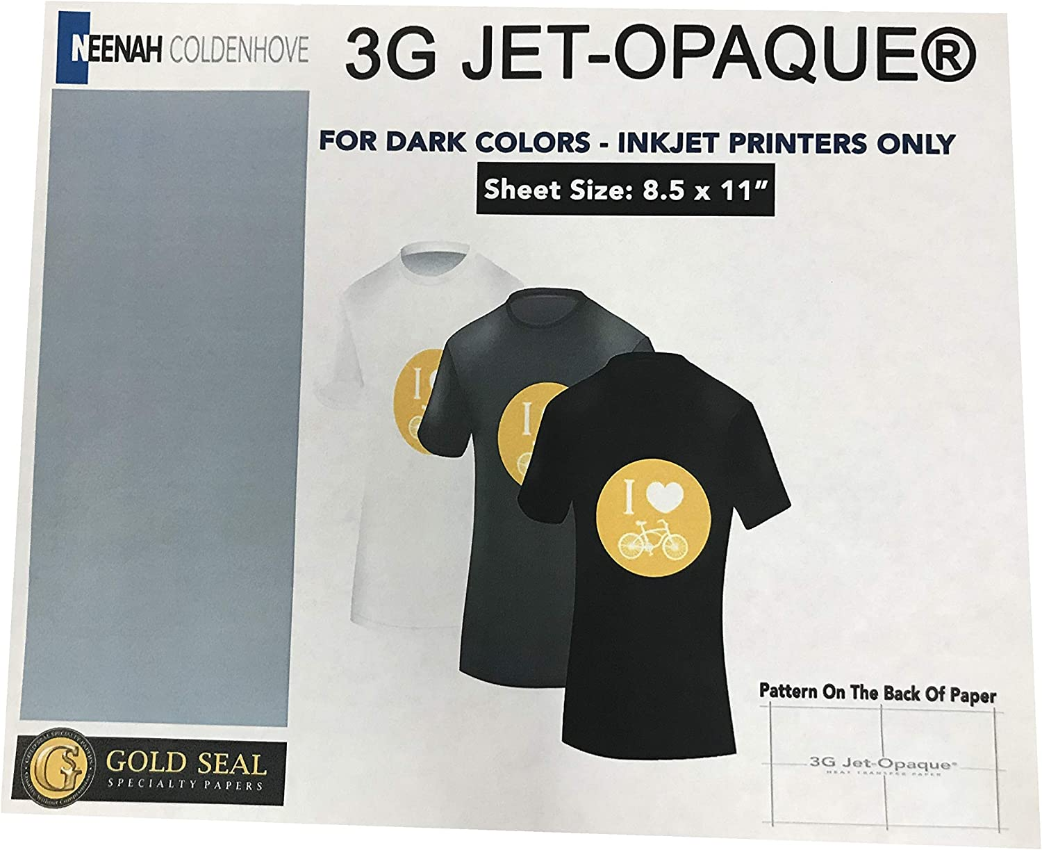 Iron ON Heat Transfer Paper 3G Jet OFFicial store Outlet ☆ Free Shipping x 8.5
