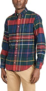 Men's Big Check Flannel Button Down Shirt