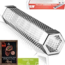 LIZZQ Premium Pellet Smoker Tube 12 inches - 5 Hours of Billowing Smoke - for Any Grill or Smoker, Hot or Cold Smoking - Easy, Safety and Tasty Smoking - Free eBook Grilling Ideas and Recipes…
