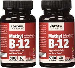 Jarrow Formulas Methyl B12, Methylcobalamin (2 X 60)