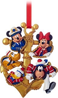 Disney Cruise Lines Captain Mickey Minnie Goofy Donald Pluto Crew Gang Anchor Ornament