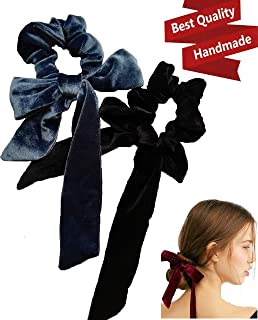 black velvet hair tie