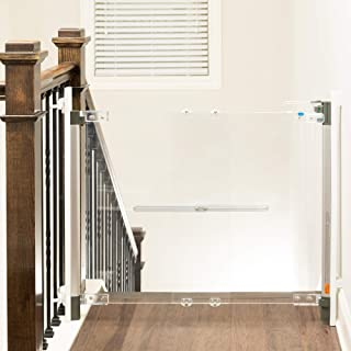 Qdos Crystal Designer Baby Safety Gate - Meets Tougher European Standards - Modern Design and Unparalleled Safety - Beauty & Safety Together at Last - Simple Installation   Hardware Mount
