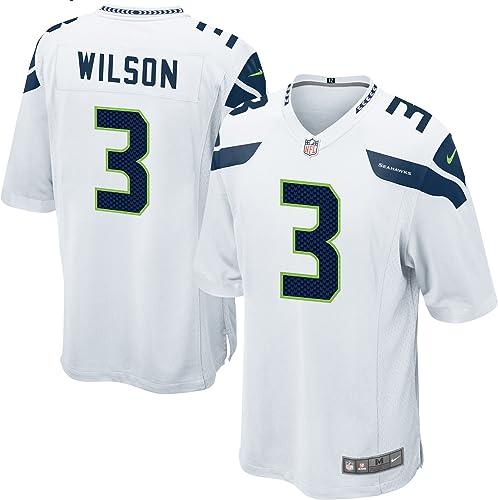 Nike Seattle Seahawks Russell Wilson Football Américain Jeu Jersey Blanc