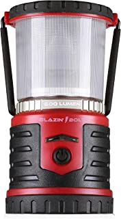 Blazin' Bison Battery Rechargeable LED Lantern | 500 Hour Runtime | Phone Charger | Camping Light (600 Lumen, Red)