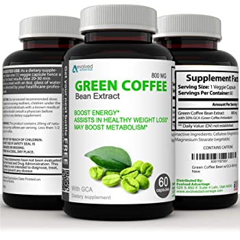 Green Coffee Bean Extract Immune Support and Weight Loss Supplement - Max Strength Natural GCA Antioxidant Cleanse for Weight Loss (w/GCA 800 mg)