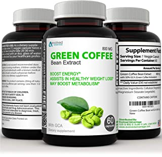 Green Coffee Bean Extract Immune Support and Weight Loss Supplement - Max Strength Natural GCA Antioxidant Cleanse for Wei...
