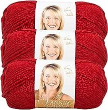 Lion Brand Vanna's Choice Bulk Buy Yarn (3-Pack) Cranberry 860-180