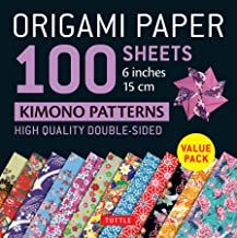 Origami Paper 100 sheets Kimono Patterns