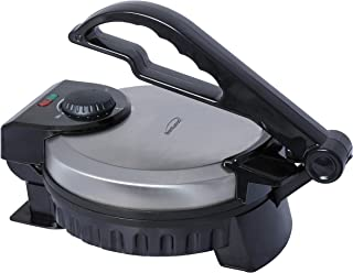 Brentwood TS-127 Stainless Steel Non-Stick Electric Tortilla Maker, 8-Inch