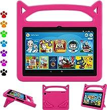 کیف تبلت Fire HD 8، Fire HD 8 Case-Dinines Light Shock Handle Kid Proof Cover Kids Case for Fire HD 8 Tablet (نسخه 8th / 7 / 6th، 2018/2017/2016 Realease) Pink