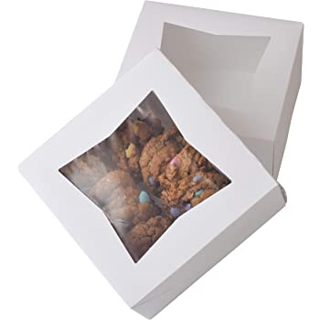 """6"""" x 6"""" x 3"""" White Bakery Box 