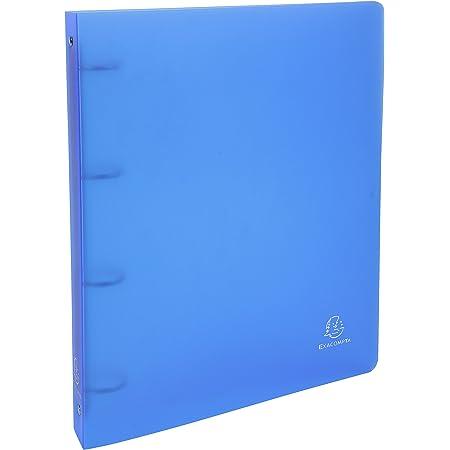 Exacompta - Réf. 51262E - 1 Classeur semi-rigide PP Chromaline - 4 anneaux ronds diamètre 30 mm - Dos 40 mm - Dimensions extérieures : 32 x 26,8 cm - Format à classer A4 Maxi - Coloris : turquoise