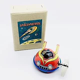 Rocket USA X-7 Yellow Space Patrol Flying Saucer 2004 Big Key Wacky Wind-Up 2 Inch Tin Toy