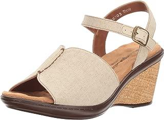 Auri Womens Adrienne Wedge Sandal
