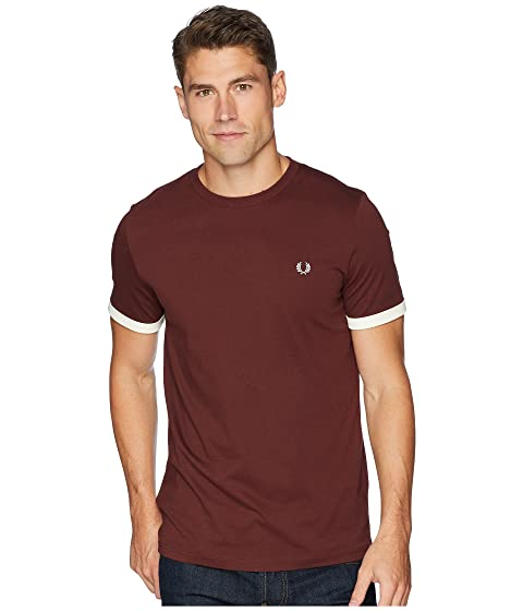 Fred Perry Ringer T-Shirt Stadium Red Discount Supply Discount Fake Fake Online bVIu7D43M