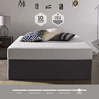 Sleep Innovations Sage 8-inch Cooling Gel Memory Foam Mattress, Bed in a Box, Made in The USA, 20-Year Warranty, Twin