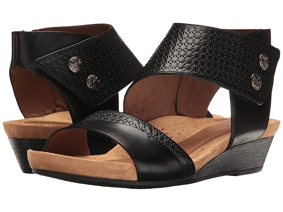 Rockport Cobb Hill Collection Cobb Hill Hollywood Two-Piece Cuff (Black Leather) Women