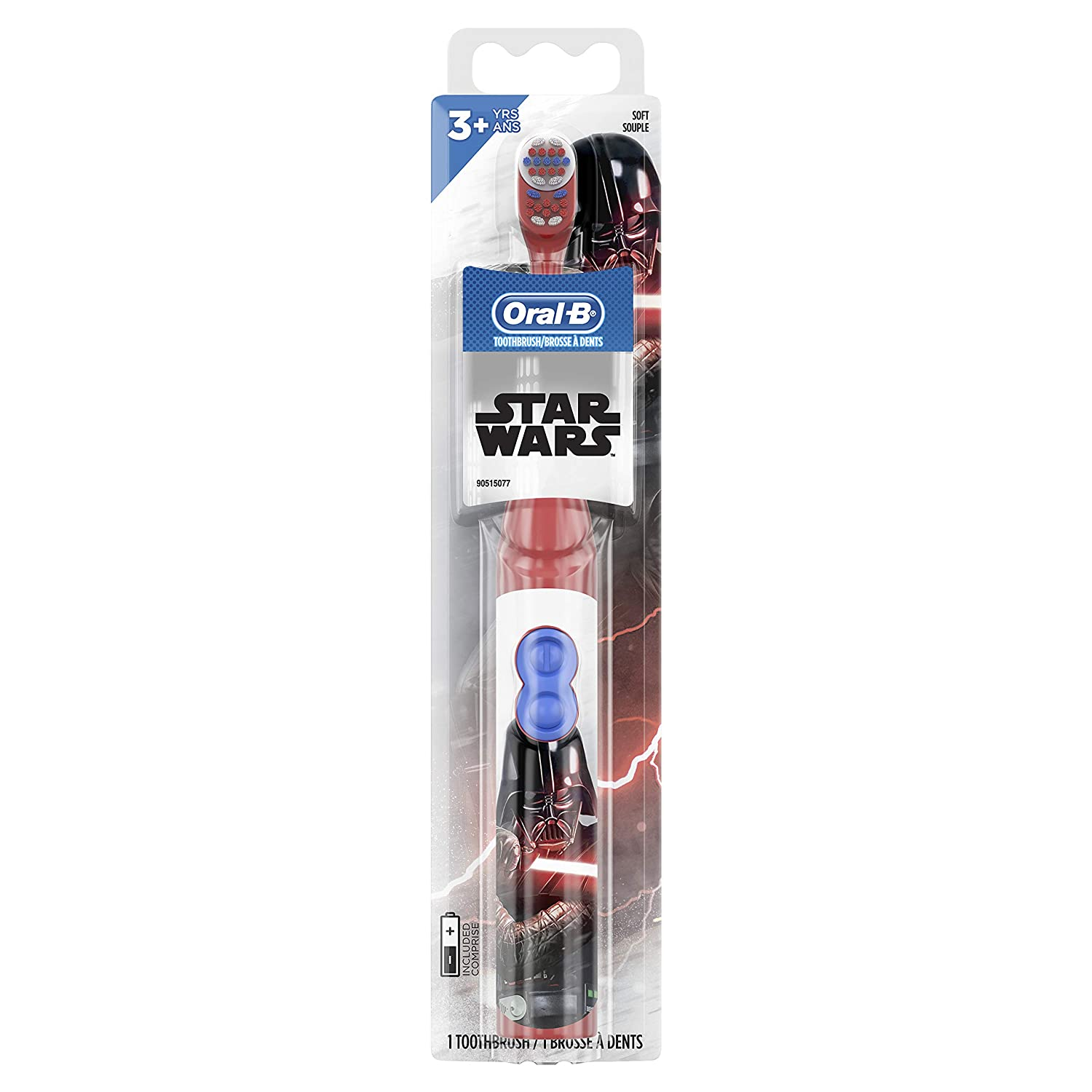 26. Oral-B Kids Battery Power Electric Toothbrush Featuring Disney's STAR WARS (for age 3+)